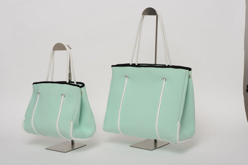 FREQUENCY MINT GREEN NEOPRENE TOTEBAG