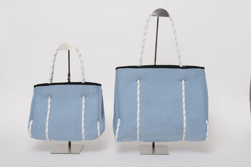 FREQUENCY BABY BLUE NEOPRENE TOTEBAG