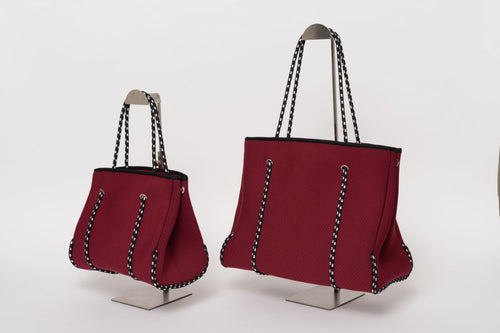 FREQUENCY MAROON NEOPRENE TOTEBAG