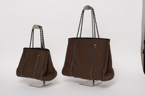 FREQUENCY DARK BROWN NEOPRENE TOTEBAG