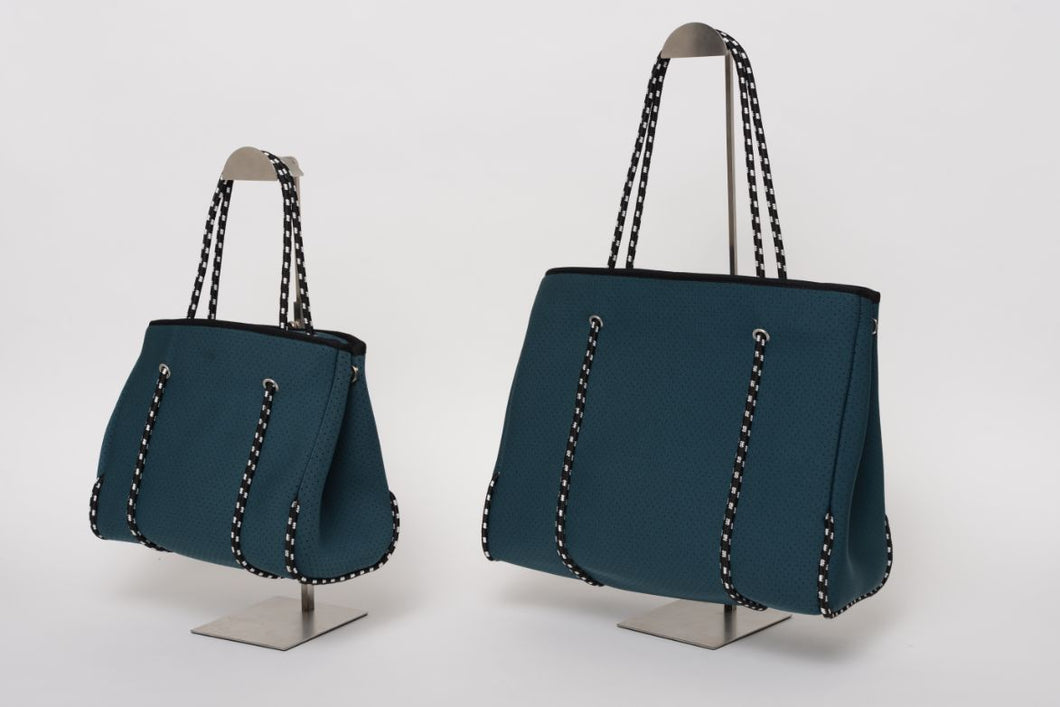 FREQUENCY TEAL NEOPRENE TOTEBAG