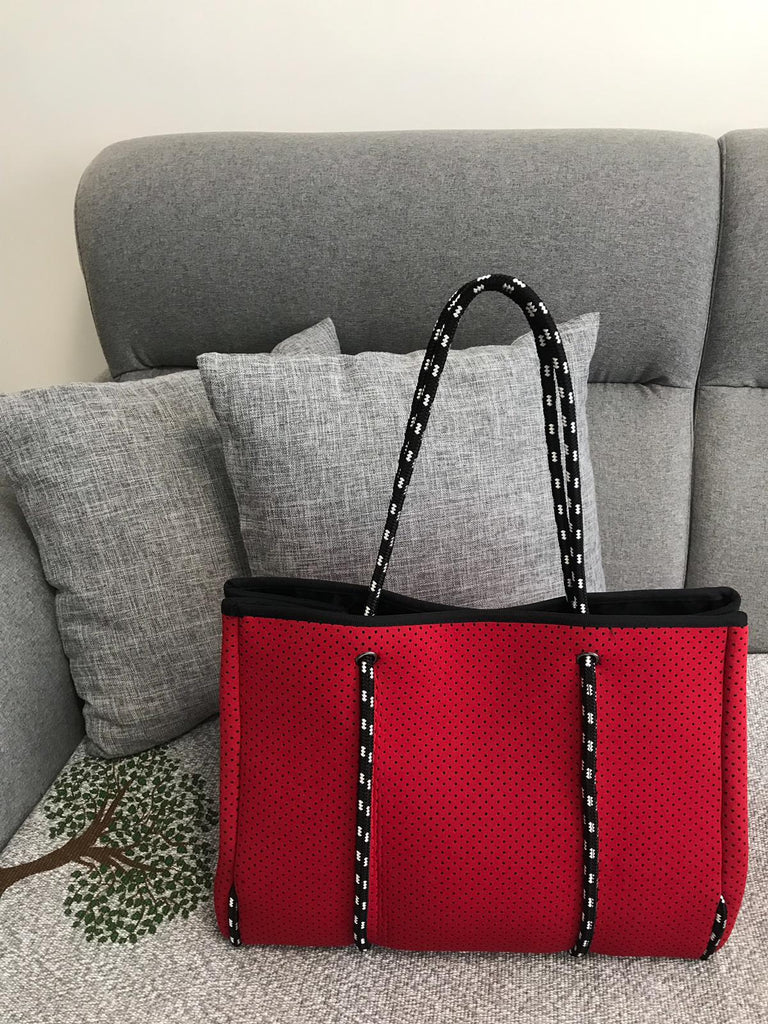 Classic Red Neoprene Tote Bag