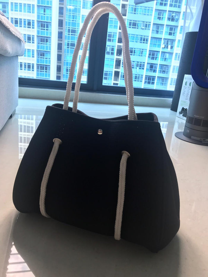 Mini Black Tote Bag