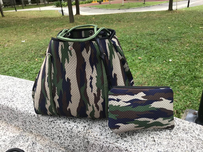 Olive Camouflage Tote Bag