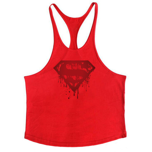 02abb4e5433817 Bodybuilding Bloody Superman Cotton Mens Tank Tops Fitness Stringer 1c –  Fitlikemike