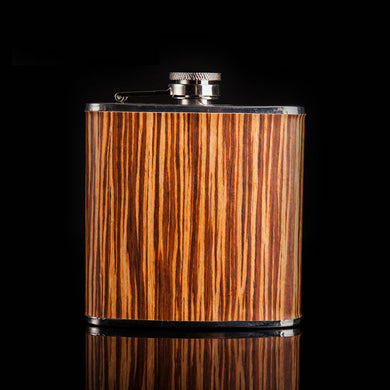 Wood Wrapped Grain Pattern Flask (6 Oz.)[Variant_title] - FlaskMasters