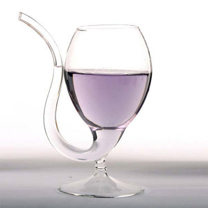 Wine Glass with Straw-Stem[Variant_title] - FlaskMasters