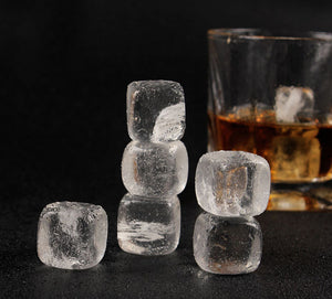 Clear Crystal Whiskey Stones (Looks like Ice Cubes!)[Variant_title] - FlaskMasters
