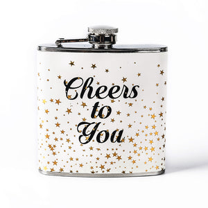 """Cheers to You"" Flask (6 Oz.)[Variant_title] - FlaskMasters"