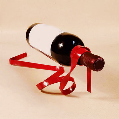 3D Floating Wine Holder Rack (Ribbon, Chain, String style; Multiple Colour Variants)[Variant_title] - FlaskMasters