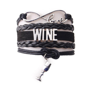 Love Wine Bracelet (Multiple Colours and Charms Available)[Variant_title] - FlaskMasters