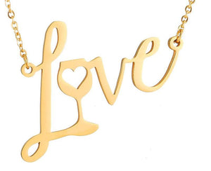 Love Wine Necklace (Gold, Silver, Rose Gold)[Variant_title] - FlaskMasters