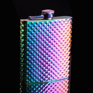 Rainbow Studded Flask (8 Oz.)[Variant_title] - FlaskMasters