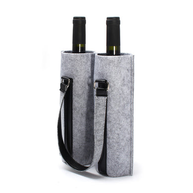 Double (2) Wine Bottle Tote Bag (Red, Dark Grey, Light Grey, Black)[Variant_title] - FlaskMasters