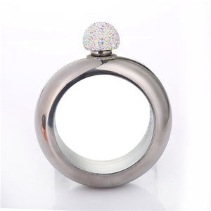 Rihanna Bangle Bracelet Flask with Bling (Rhinestone Lid) (3.5 Oz.)[Variant_title] - FlaskMasters