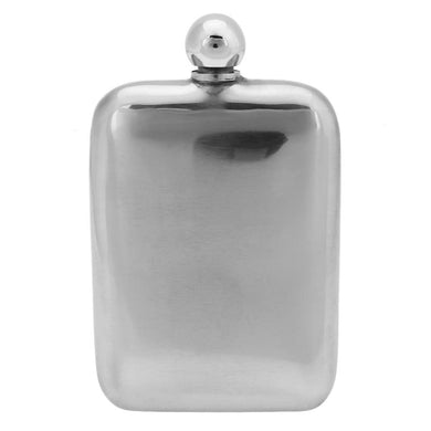 Rounded Edge Stainless Steel Hip Flask (6 Oz.)[Variant_title] - FlaskMasters