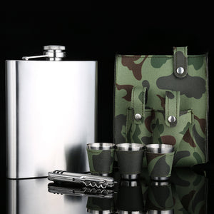 Huge 18 Oz. Flask with Camo Belt Holster, Multitool, and Cups[Variant_title] - FlaskMasters