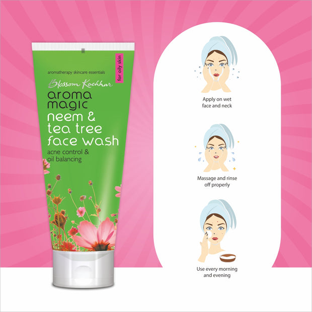 Neem-Tea-Tree-Face-Wash-How-to-use