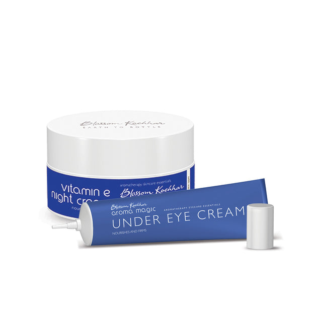 Vitamin E Night Cream and Under Eye Cream Combo