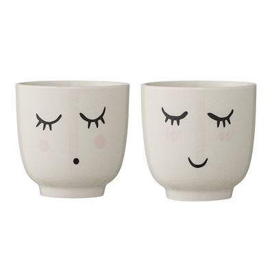Set of 2 cups Smilla - Frenchbazaar -Bloomingville