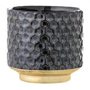 BLOOMINGVILLE - Winnie Planter, Blue, Stoneware, Blue - Frenchbazaar -Bloomingville