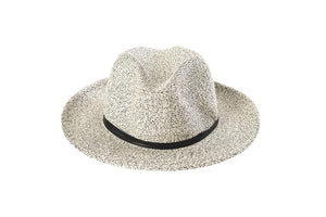 Hat - Black & White -Borsalino with leather strap - Frenchbazaar -Travaux en cours
