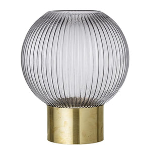 BLOOMINGVILLE - Ida Vase Grey, Glass - Frenchbazaar -Bloomingville