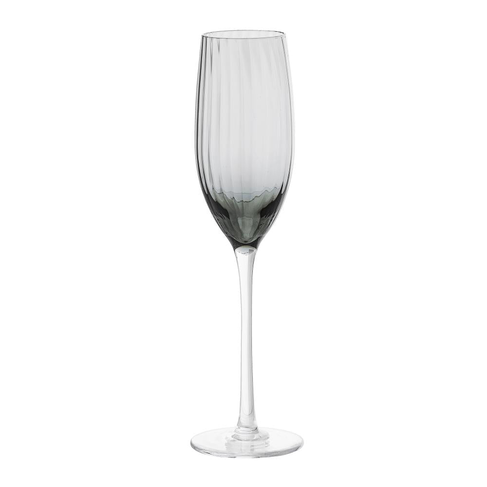 Set of 6 Champagne glasses, grey