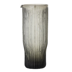 Jardin Decanter Glass, Grey - Frenchbazaar -Bloomingville