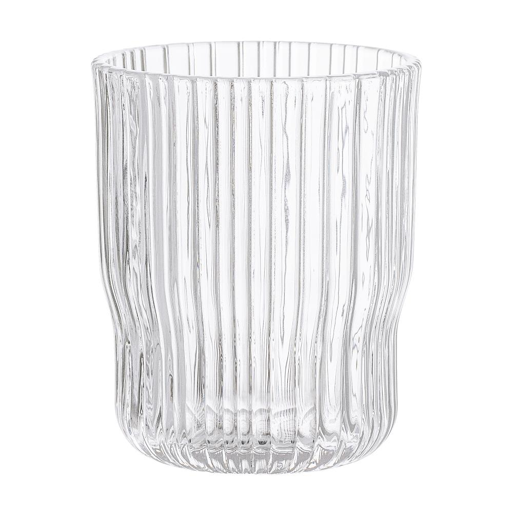 BLOOMINGVILLE - Drinking Glass Glass, Clear - Frenchbazaar -Bloomingville