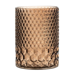 BLOOMINGVILLE - Votive/Vase Glass, Brown - Frenchbazaar -Bloomingville