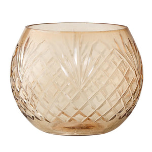 BLOOMINGVILLE - Votive Glass, Brown - Frenchbazaar -Bloomingville