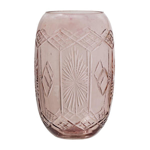 BLOOMINGVILLE - Vase Glass, Rose - Frenchbazaar -Bloomingville