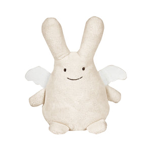 Ivory fat boy bunny angel -30 cm - Frenchbazaar -Frenchbazaar