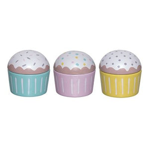 Set of 3 wood muffins