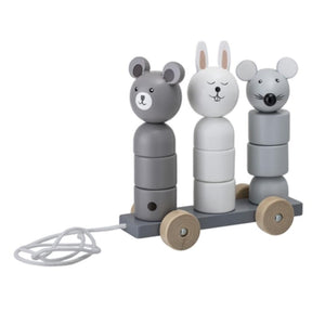 BLOOMINGVILLE -Pull along toy grey - Frenchbazaar -Bloomingville