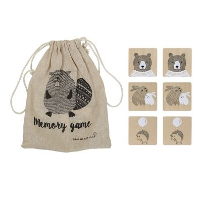 Memory Game Plywood, Nature - Frenchbazaar -Bloomingville