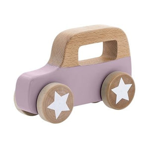 Toy Car Purple Wood
