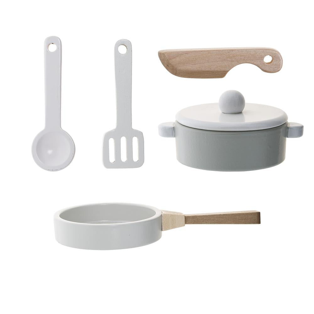 Play Set, Kitchen MDF, White Set of 5 - Frenchbazaar -Bloomingville