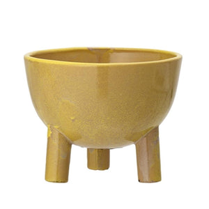 BLOOMINGVILLE - Sammy Planter, Tripode Yellow - Frenchbazaar -Bloomingville