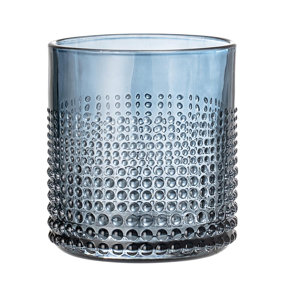 BLOOMINGVILLE - Drinking Glass Blue - Frenchbazaar -Bloomingville
