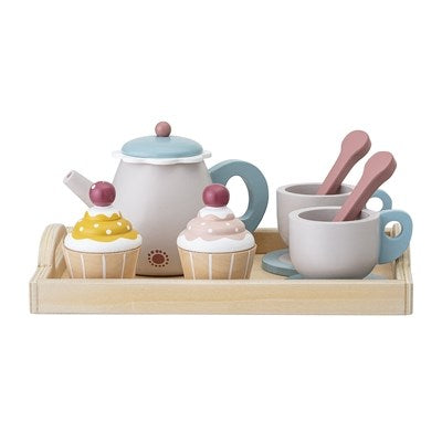 BLOOMINGVILLE - Tea set Wood - Frenchbazaar -Bloomingville