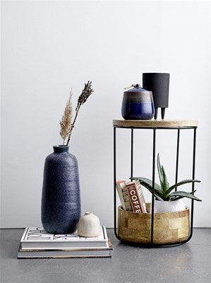 BLOOMINGVILLE - Polo Planter, Black, Metal - Frenchbazaar -Bloomingville