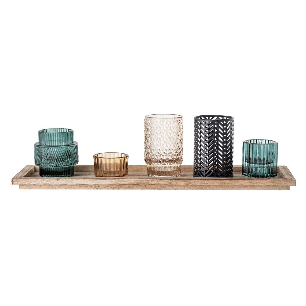 BLOOMINGVILLE - Votive, Multi-color, Glass - Frenchbazaar -Bloomingville
