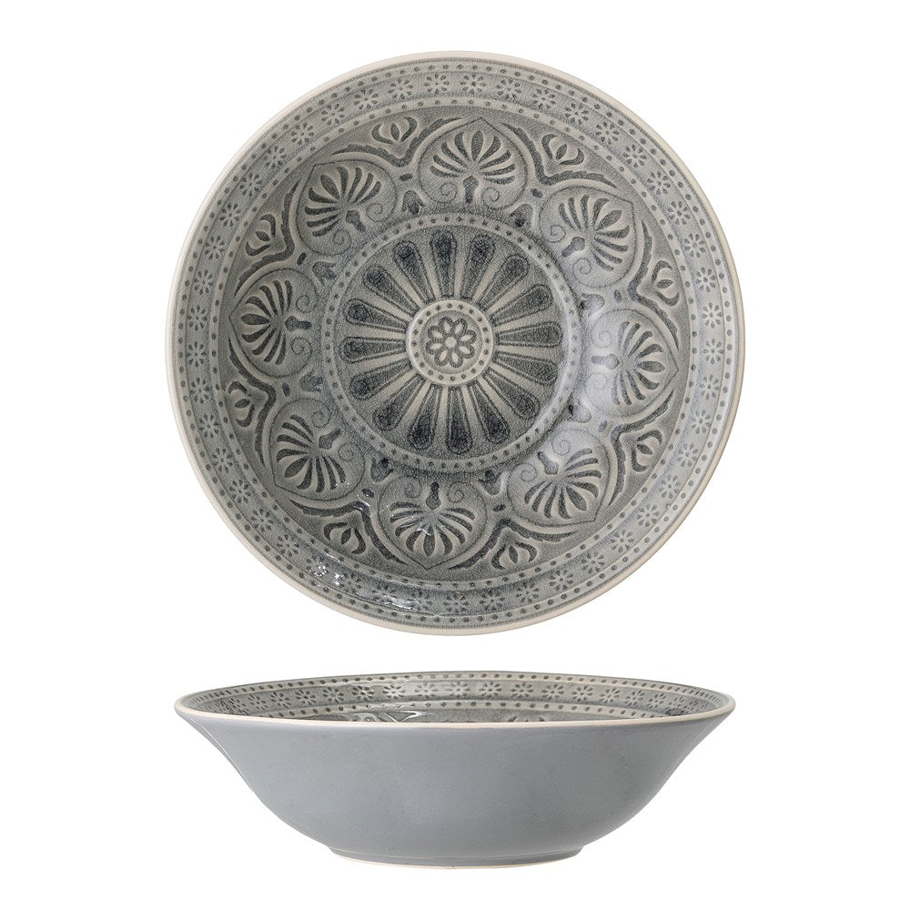BLOOMINGVILLE - Rani Serving Bowl, Grey - Frenchbazaar -Bloomingville