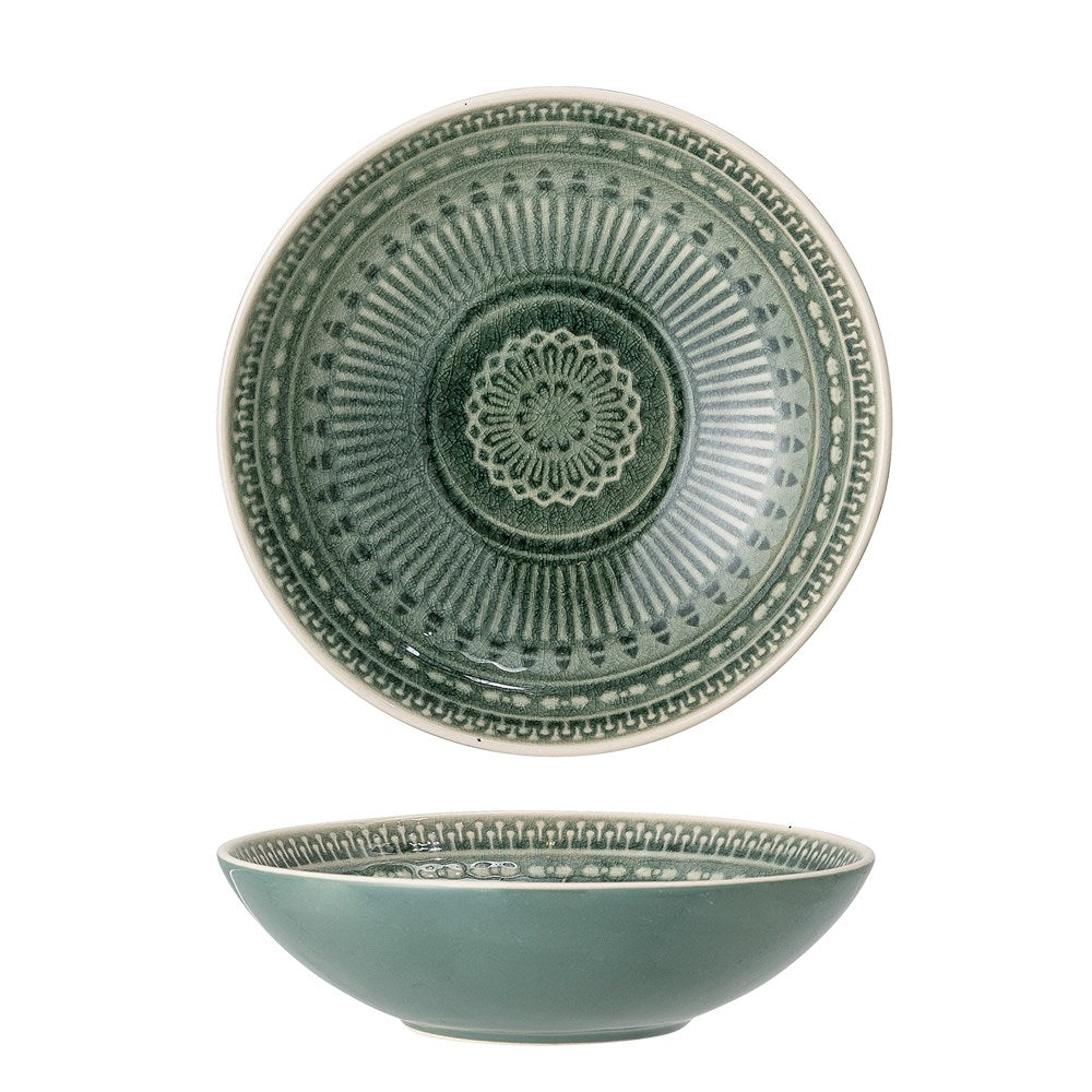 BLOOMINGVILLE - Rani Bowl, Green, Stoneware - Frenchbazaar -Bloomingville