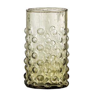 BLOOMINGVILLE - Freja Drinking Glass, Green, Glass - Frenchbazaar -Bloomingville