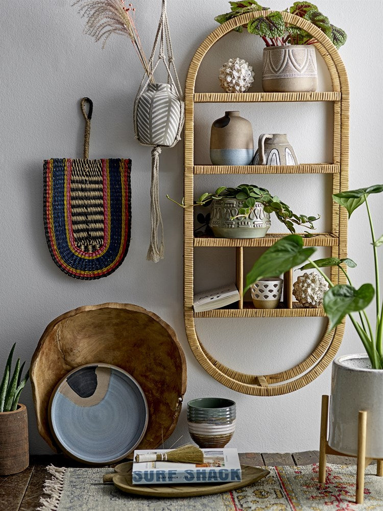 BLOOMINGVILLE - Mia Rattan Shelf - Frenchbazaar -Bloomingville