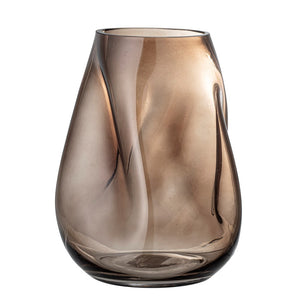 BLOOMINGVILLE - Cleo Vase, Brown, Glass - Frenchbazaar -Bloomingville