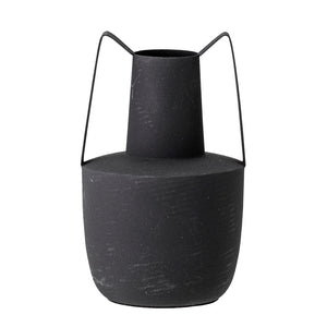 BLOOMINGVILLE - Roxy Vase Black, Metal - Frenchbazaar -Bloomingville